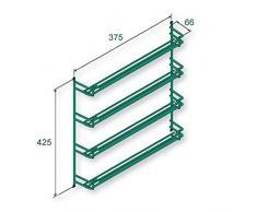 SO-TECH® Étagère à épices à 4 étages de 6 places en métal thermopoudré Argent