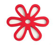 Yoko Design 1205 Dessous de Plat Magnétique Silicone/Platine Rouge 16 x 14,30 x 0,9 cm