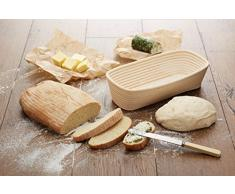 Kitchen Craft Home Made Panier à/Banneton à pain rectangulaire, 30.5 x 14,5 cm - en Rotin