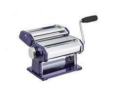 Kitchen Craft World of Flavours Machine à pâtes en Acier Inoxydable – Bleu
