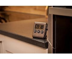 Thermomètre Numérique Avec Sonde Pour Cuisson Au Four - Résistant Jusqu'à 250°C - Fonction Alarme De Température Et Minuterie [version:x8.6] by DELIAWINTERFEL