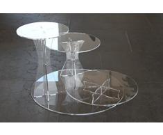 Présentoir tortenetagere acrylique présentoir à gâteaux de mariage à 3 étages plexiglas acrylique ø 20, 25, 30 cm
