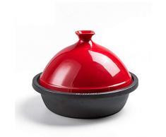 XCXDX Tajine, Tajine Marocaine Traditionnelle, Marmite en Fonte, Cocotte en Céramique, Marmite Multi-Fonctions, 30cm pour 3-6 Personnes Red 26cm