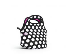 Built NY Mini Gourmet Getaway Bag Big Dot Black & White, Insulated mini lunch tote, keeps food hot or cold