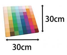 Joseph Joseph - Planche en Verre/Dessous de Plat - 30 x 30 cm - Blocs de couleur