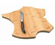 Plateau à fromage carte de France en bois Laguiole - couteau à fromage manche bois