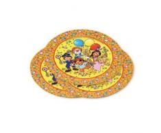 8 Assiettes de kIDS party *lutz mauder 11202// assiettes en carton jetables pour enfant clown