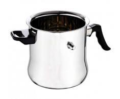 Pot à lait en acier inoxydable de 2,5 litres - pot de cuisson à bain-marie - chaudière à lait