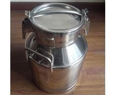 Wotefusi Bidon a Lait Vin Pot Seau Recipient en Acier Inox 5L 10L 15L 20L 25L 30L 40L 50L