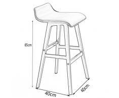 Siège en bois Chaise ronde Tabouret en hauteur Bar Cuisine Petit déjeuner Tabouret Nordic Simple Retro Style Blanc ( Couleur : #1 , taille : 40cm*40cm*65.5cm )