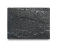 Zeller 26257 Plaque de découpe, Verre de Sécurité, Gris, 40 x 30 x 0,8 cm