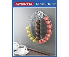 WENKO Turbofix porte-capsule - sans perçage - capsule métallique distributeur pour 24 capsules Nespresso - Distributeur - Stand des capsule - capsules de café