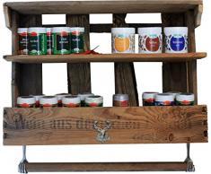 Pfalzvilla Étagère à épices faite avec caisse de vin usagée style rétro maison de campagne