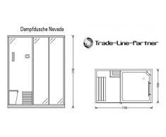 Trade-Line-Partner Douche Vapeur 170 x 100 cm avec Fonction Sauna + équipement Complet