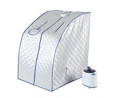 Sauna Portable, 220V 1000W Tente de Sauna Cabine Thermique Pliable Thérapeutique Vapeur Spa Chaise Pliable pour Maison SPA Douche, 2L
