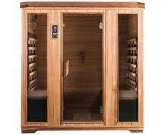 SaunaMed Sauna infrarouge de luxe en cèdre pour 4 personnes