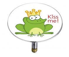 Wenko 21847100 Pluggy Bouchon de Baignoire Froggy Multicolore Taille XXL Dimensions 7,5 x 7,5 x 5,5 cm