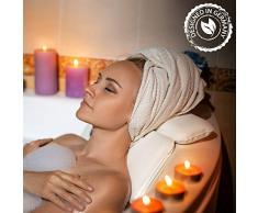 ZenHome Oreiller de Baignoire Ergonomique – Coussin de bain amovible et anti-dérapant avec ventouses – Mousse confortable – Idéal pour la relaxation – 30 x 35 cm