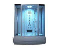 Home Deluxe Diamond Blanc Temple de douche, avec jacuzzi et Sauna Vapeur