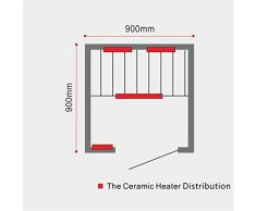 Sauna infrarouge cabine Sola pour 1 personne chaleur neuf avec CD Radio, Liseuse, Ozone etc.