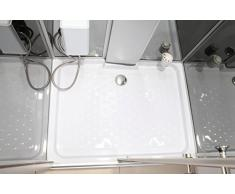 Ciclamino Cabine de douche hydromassante rectangulaire avec lumière intérieure modèle de luxe 110 x 90 cm