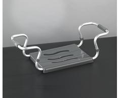 Wenko 73392500 Siège de Baignoire et Capacité de Charge Métal/Aluminium Argent Dimensions 65 x 18 x 26 cm