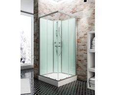 Schulte Cabine de douche complète en angle Corsica avec portes coulissantes, 90x90x200 cm