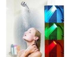 Pommeau de douche lumineux à LED indicateur de température