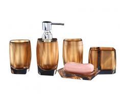 Bellabrunnen Accessoires de Salle de Bain Set de finition en Acrylique cristal de luxe Décoration Holder Tumbler Or
