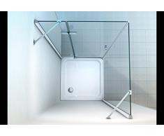 Cabine de douche en coin acheter cabines de douche en coin en ligne sur liv - Cabine de douche sans bac ...