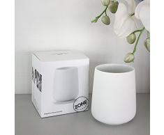 NOVA zONE verre à brosses à dents en porcelaine avec revêtement soft touch, blanc, env. 10 cm