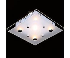 Plafonnier de verre salle de bain lampe luminaire éclairage lumière, model Candor