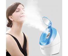 OKACHI GLIYA Nano Ionic Visage Steamer Professional Hot Mist Sauna Spa pour ouvrir les pores Traitement Blackhead & Acne & Sinus Inhalateur Portable Hydratation en profondeur - Bleu