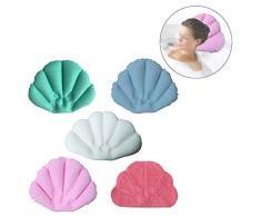 rosenice de coussin de bain gonflable oreiller avec ventouses pour salle de bains baignoire (occasionnelles de Station Thermale de couleur)