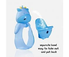 Bonne qualité Urinoir Garçon Debout Toilette Fondue Urinoir Mural Urinoir Enfant, Bleu