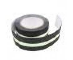 B Blesiya Anti-Slip de Bain Poignée Autocollants Anti-Dérapant De Sécurité Baignoire Douche Bande - Noir avec lumineux