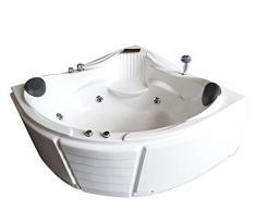 BAIGNOIRE MASSANTE ANGLE 150 x 150 cm - BALNEO BAIN TOURBILLON JACUZZI Las Vegas Jets dorsaux whirlpool spa! Cascade inclus!