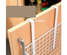 OUNONA Support à sèche-cheveux et fer à friser Porte-serviette Organisateur Salle de Bain (blanc)