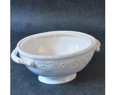 Cabine en céramique une baignoire ovale Beige Grand Lavabo