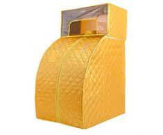 LJHA sangnaxiang Boîte de Sauna familiale, boîte de Sauna Infrarouge lointaine familiale boîte de Sauna à la Vapeur chauffante Fumigation Sauna Bain de Sauna boîte à Vapeur (Couleur : Le Jaune)