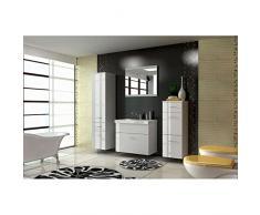 JUSThome EVA STANDARD Ensemble salle de bain (4 - pi?ces) Couleur : Blanc laqué haute brillance
