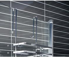 Étagère à 3 étages avec tout type de tablette d s vertriebs étagère de douche sans perçage