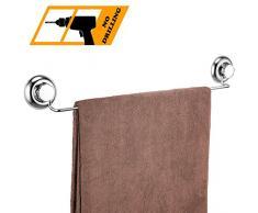 MaxHold 18 Barres porte-serviettes - Ventouse Système de Vide- Pas de Perçage - Acier Inoxydable- Murale Porte Serviette pour Salle de Bains et Cuisine
