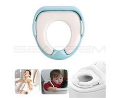 inpay – Pot Bébé toilette siège da WC – Apprendre À Être au bain – SEGURE antidérapant surface douce, démontable Coussin de chaise avec boutons Accoudoir – Pot ajustal la plupart des types toilettes – Pour
