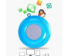 Mini haut-parleur Bluetooth portable FM radio LCD écran mains libres Haut-parleur bluetooth étanche avec construit en haut-parleur de douche micro