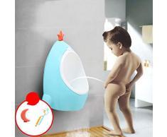 CHUNLAN Urinoir mural pour garçon, urinoir debout, bleu