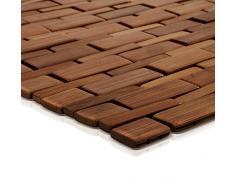 Tapis de bain casa pura® Mia en BAMBOU | tapis de sauna - 2 coloris | 60x90cm | dos antiglisse, miel