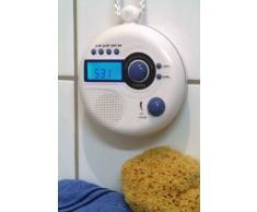 Elta 3149 Radio de Douche avec Affichage numérique Blanc