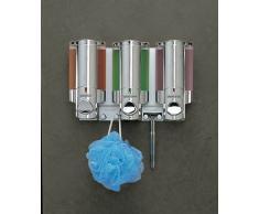 Aviva Triple distributeur à savon/shampoing Chromé