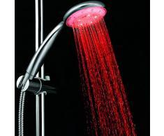 Fuloon Showerhead LED Pommeau de douche lumineux à LED 7 couleurs Sans Batterie- couleurs changent au fil du temps vous apporter un monde onirique